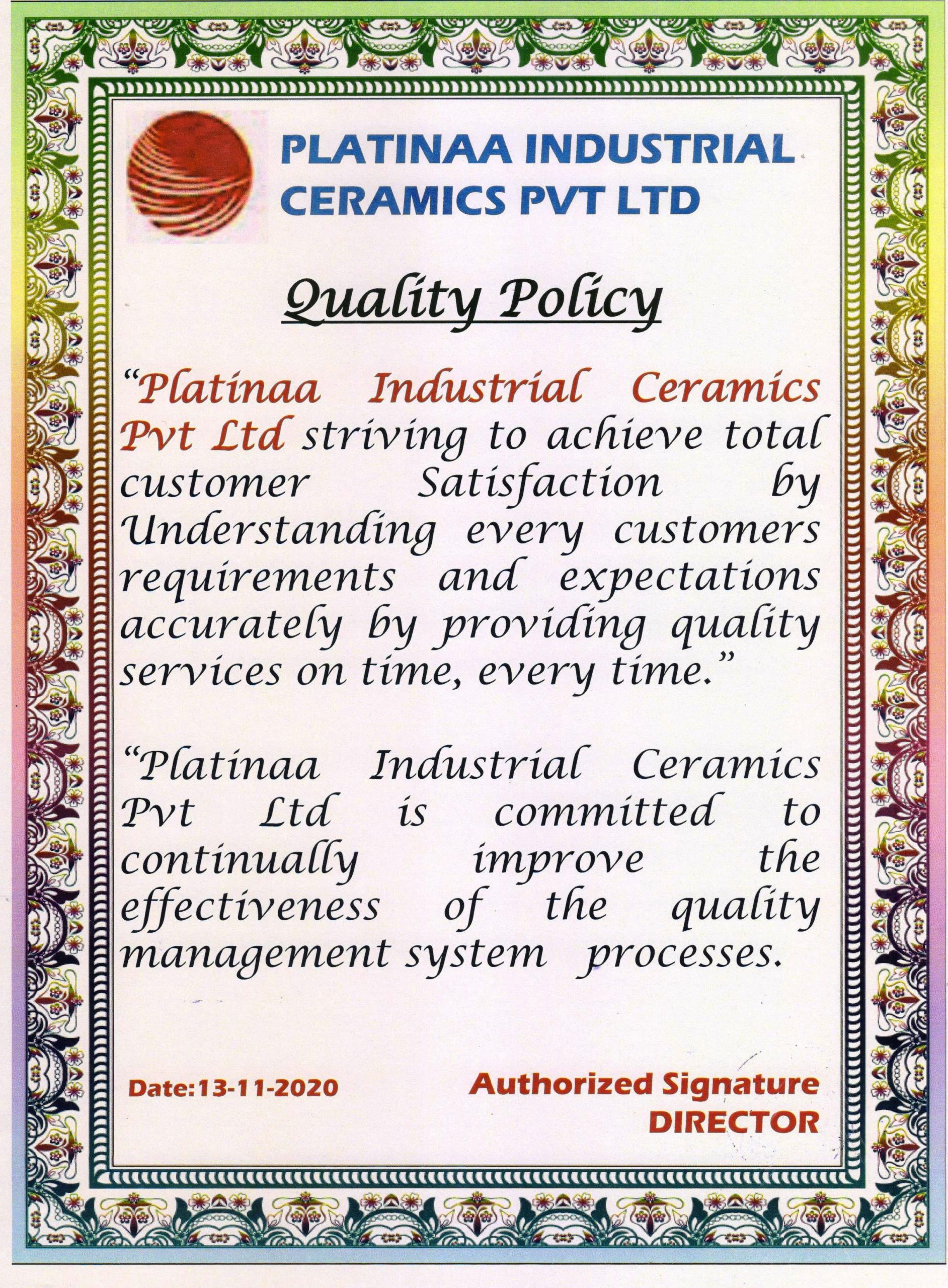 ISO 9001 QUALITY POLICY 001